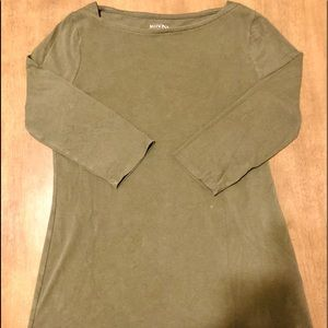Olive Green Size M Half Sleeve Soft Top